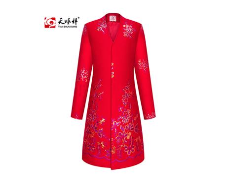天顺祥天福系列思念女装正红套装