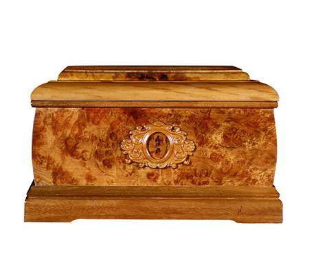 回归自然黄金樟骨灰盒