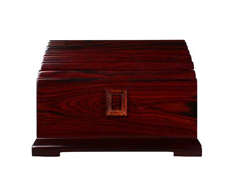 天年殿大红酸枝实木骨灰盒