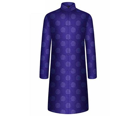 天禧系列男士福寿深蓝色寿衣套装