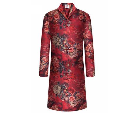 天泽系列国色天香中式旗袍老衣套装