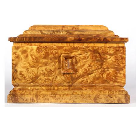 永福黄金樟木骨灰盒